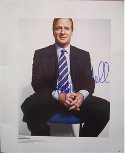 Roger Goodell (NFL commissioner) autographed ESPN magazine full page photo