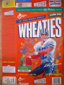 Roger Staubach Dallas Cowboys LeRoy Neiman artwork Wheaties box