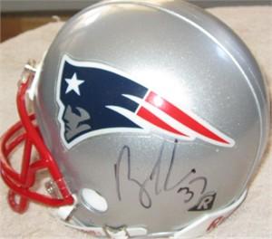 Rodney Harrison autographed New England Patriots mini helmet