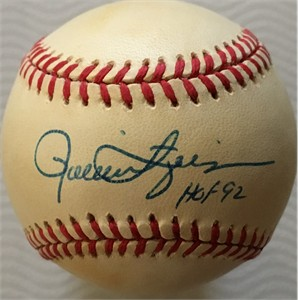 Rollie Fingers autographed National League baseball