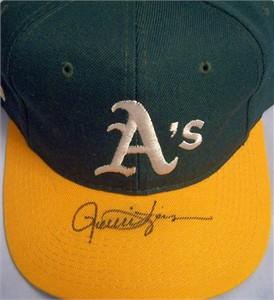 Rollie Fingers autographed Oakland A's cap or hat