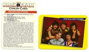 Rolling Stones 1985 Rockstar Concert Card