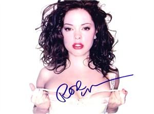 Rose McGowan autographed sexy 8x10 photo