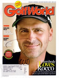 Rocco Mediate autographed 2008 Golf World magazine