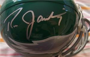 Ron Jaworski & Seth Joyner autographed Philadelphia Eagles authentic throwback mini helmet
