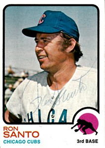 Ron Santo autographed Chicago Cubs 1970 Topps card