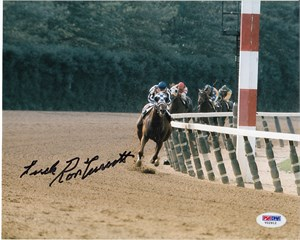 Ron Turcotte autographed Secretariat 8x10 photo inscribed With Luck (PSA/DNA)