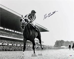 Ron Turcotte autographed Secretariat Triple Crown 16x20 poster size photo (PSA/DNA)