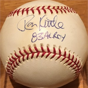 Ron Kittle autographed MLB baseball inscribed 83 AL ROY