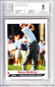 Rory McIlroy 2011 Sports Illustrated for Kids SI golf Rookie Card graded BGS 8 (NrMt-Mt)