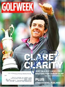Rory McIlroy autographed 2014 British Open Golfweek magazine