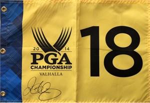 Rory McIlroy autographed 2014 PGA Championship golf pin flag
