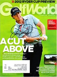 Rory McIlroy autographed 2012 Golf World magazine