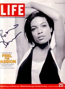 Rosario Dawson autographed 2005 Life magazine