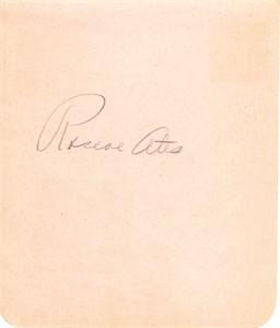 Roscoe Ates autographed autograph album or book page (JSA)