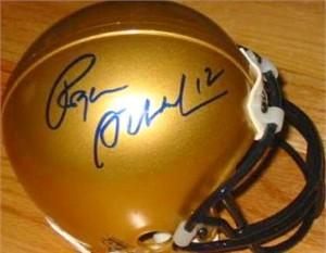 Roger Staubach autographed Navy mini helmet