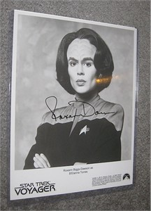Roxann Dawson autographed Star Trek Voyager 8x10 black & white photo