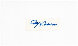 Roy Sievers autograph or cut signature mounted on 3x5 index card