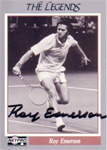 Roy Emerson autographed Netpro Legends tennis card