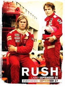 Rush 2013 movie promo card (Chris Hemsworth)