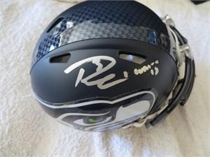 Russell Wilson autographed Seattle Seahawks mini helmet