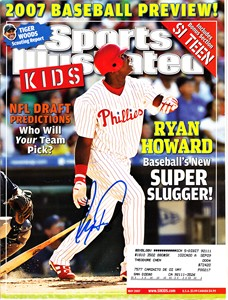 Ryan Howard autographed Philadelphia Phillies 2007 Sports Illustrated for Kids magazine