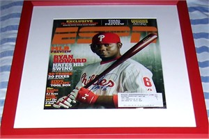 Ryan Howard autographed Philadelphia Phillies 2007 ESPN Magazine cover framed