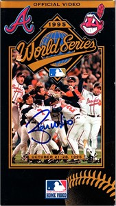 Ryan Klesko autographed Atlanta Braves 1995 World Series VHS video