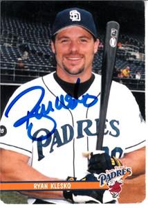 Ryan Klesko autographed San Diego Padres 2002 Keebler card (MLB authenticated)