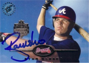 Ryan Klesko autographed Atlanta Braves 1995 Stadium Club card