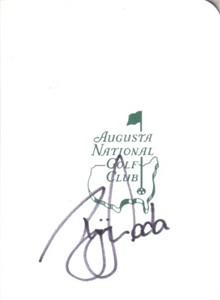 Ryuji Imada autographed Augusta National Masters scorecard