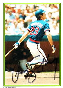 Ryne Sandberg autographed Chicago Cubs 1987 Topps 1986 All-Star card