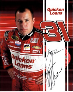 Ryan Newman autographed 8 1/2 by 11 NASCAR photo card