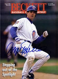 Ryne Sandberg autographed Chicago Cubs 1994 Beckett Baseball magazine cover