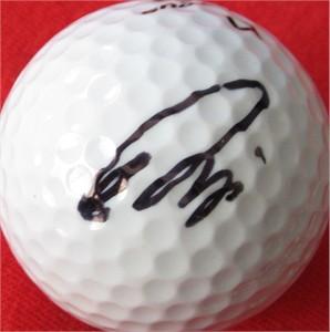 Ryo Ishikawa autographed golf ball