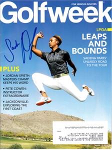 Sadena Parks autographed 2015 Golfweek magazine