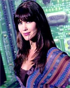 Sarah Lancaster autographed Chuck 8x10 photo