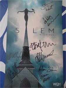 Salem cast autographed 2015 Comic-Con poster (Elise Eberle Seth Gabel Ashley Madekwe Shane West)