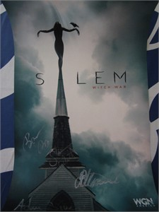 Salem autographed 2015 Wondercon poster (Janet Montgomery Shane West)