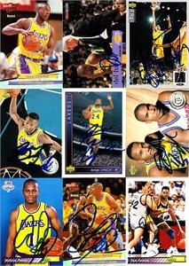 Sam Perkins autographed Los Angeles Lakers 1992-93 Upper Deck card