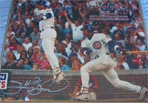 Sammy Sosa autographed Chicago Cubs 16x20 poster size 60/60 Home Runs commemorative photo