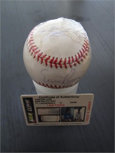 Sammy Sosa & Ernie Banks autographed Rawlings National League baseball (Fan Link)