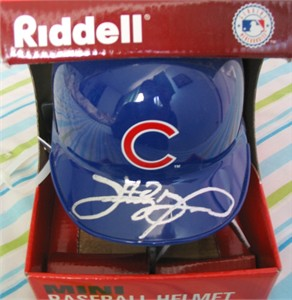Sammy Sosa autographed Chicago Cubs mini batting helmet (TSC)
