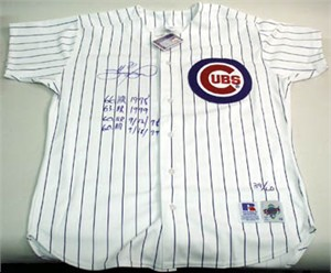 Sammy Sosa autographed Chicago Cubs authentic game model jersey inscribed 60/60 HR ltd edit 60