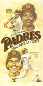 San Diego Padres 1988 media guide (Tony Gwynn & Benito Santiago)
