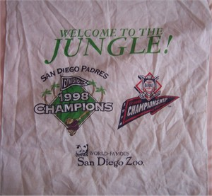 San Diego Padres 1998 NLCS Welcome to the Jungle hanky