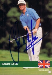 Sandy Lyle autographed 1992 Pro Set golf card