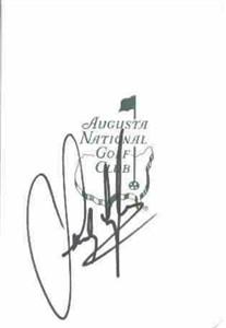 Sandy Lyle autographed Augusta National Masters scorecard