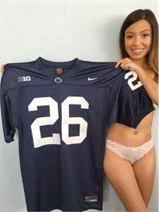 Saquon Barkley 2016 Penn State authentic Nike #26 blue stitched loose cut jersey NEW