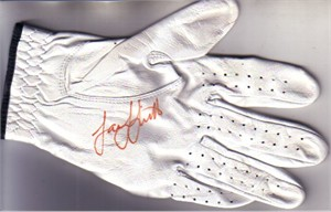 Sarah Jane Smith autographed 2012 LPGA Kia Classic tournament used or worn Bridgestone glove